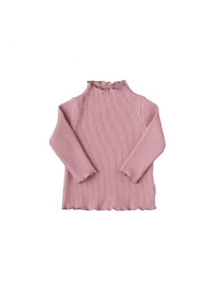 "Джемпер из вафельного трикотажа  (вафля кашкорсе) ""Petit Bebe"" р.80 цвет: Темно-розовый (31007)"