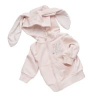 """Джемпер с капюшоном на молнии (футер без подклада) """"Petit Bebe"""" (р. 86)  цвет: Розовый (3610)"""
