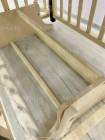 """Кровать детская деревянная на колесе+маятник+ автостенка """"Эмили  Lux 2"""" цвет: сл.кость /шоколад"""