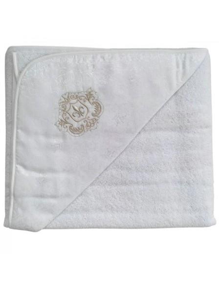 """Детское банное полотенце с капюшоном -уголком """" Инфанты """" цвет: белый П1/0"""