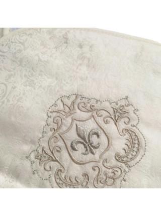 """Детское банное полотенце с капюшоном -уголком """" Инфанты """" цвет: бежевый П1/4"""