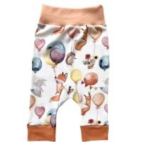 Детские трикотажные штанишки  р.74-80 Цвет : Веселые зверята (T-129)