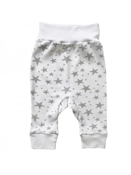 Детские трикотажные штанишки  р.62-68 Цвет : Серые Звезды (T-129)