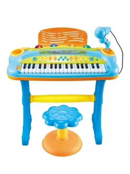 Детское пианино со стульчиком My Piano цвет: синий (6617А)