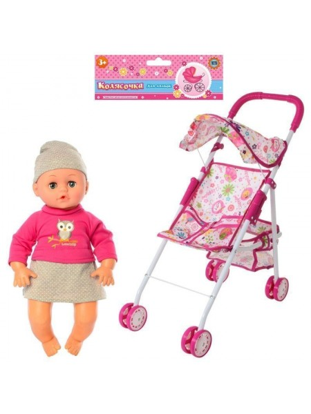 Детская коляска - трость с куколкой (81816)