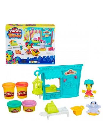 """Детский игровой набор с пластилином """"Магазинчик домашних питомцев"""" Play Doh (B3418)"""