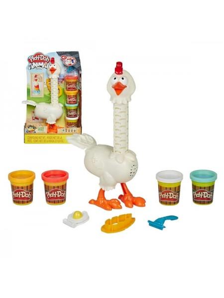 """Детский игровой набор с пластилином """"Play-Doh """"Курочка - чудо в перьях"""" Play Doh (E6647)"""