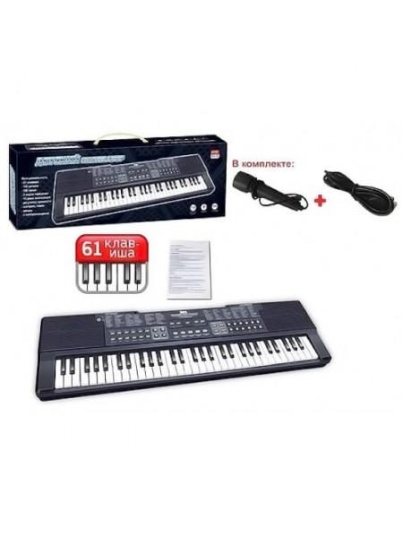 Детский синтезатор с микрофоном (батарейки или сеть) ZYB-B3154