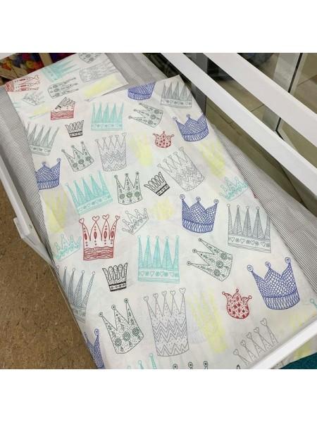 """Комплект постельного белья 3 предмета """"короны"""" для полуторной кровати п-004"""