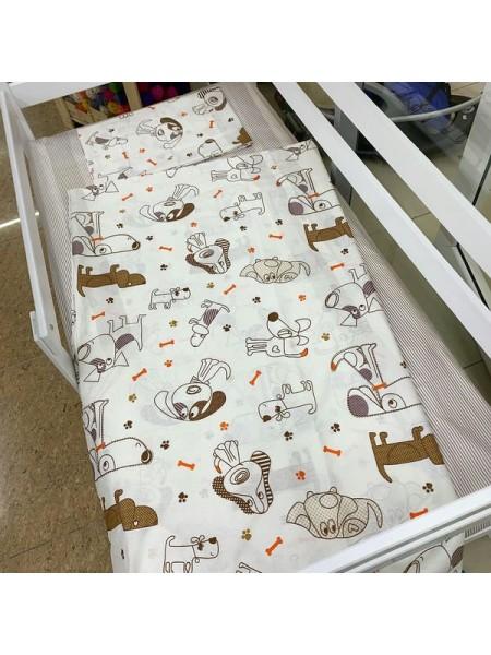 """Комплект постельного белья 3 предмета """"собачки"""" для полуторной кровати п-004"""