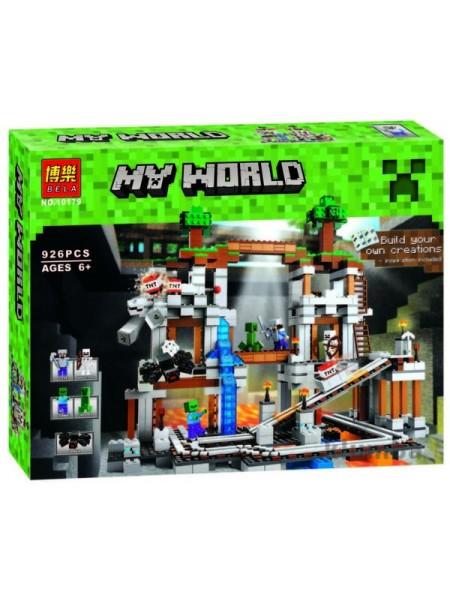 """Детский игровой набор конструктор """"Майнкрафт: шахта""""/ Bela My world 926 деталей  10179"""