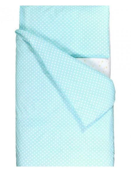 """Комплект постельного белья 3 предмета """"Горошки на голубом"""" для полуторной кровати п-004"""