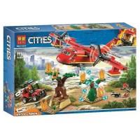 """Детский игровой набор конструктор Cities"""" Пожарный самолет"""" 381 детали BELA Cities (11214)"""