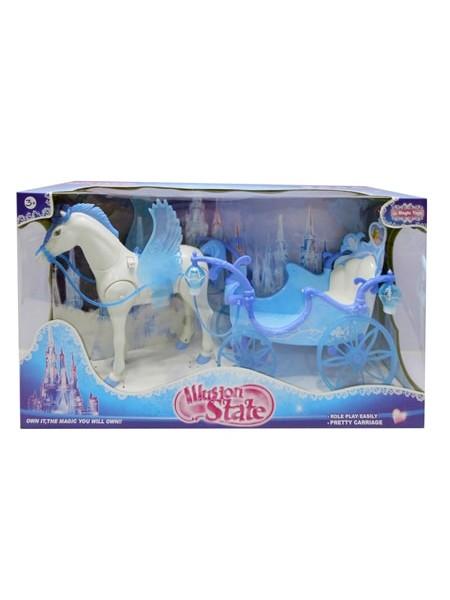 """Детский  игровой набор """" Карета с ходячей лошадью """" со световыми и звуковыми эффектами 227B"""