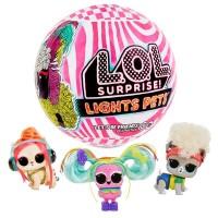 Детский игровой набор LOL питомец-сюрприз в шаре LOL Lights Glitter