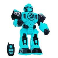 Детский интерактивный робот на пульте управления цвет: голубой  (601B)