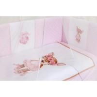 """Детский комплект постельного белья 6 предметов для стандартной кроватки """"Балерина"""" 6068"""