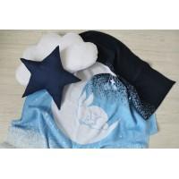 """Детский шерстяной вязаный плед """" Ночь"""" 110*170 цвет: голубой 61001-2"""