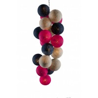 """Хлопковые шарики \ Тайская гирлянда из шариков на батарейках 20 LED 3 метра """" Вернисаж """""""