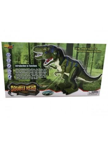 """Детская интерактивная игрушка"""" Двухглавый динозавр"""" с проектором, звук, свет (6830)"""