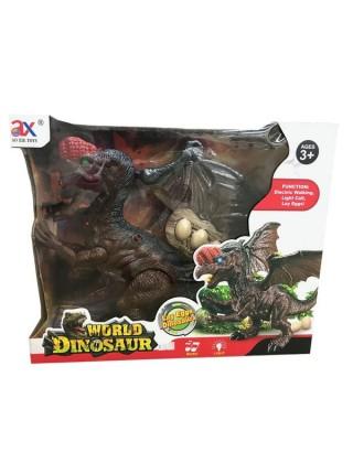 """Детская интерактивная игрушка"""" Динозавр откладывает Яйца"""" с рычанием и светящимися глазами"""