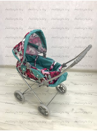 Детская коляска - люлька для кукол с корзиной 2 в 1 Melogo 9391 цвет: мята