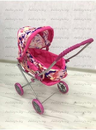Детская коляска - люлька для кукол с корзиной 2 в 1 Melogo 9391 цвет: пирожные