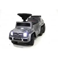 """Детская каталка-толкачик – шестиколесный Mercedes-Benz GL65 6x6 / Мерседес  Бенс"""" со звуком и светом цвет: серебро"""