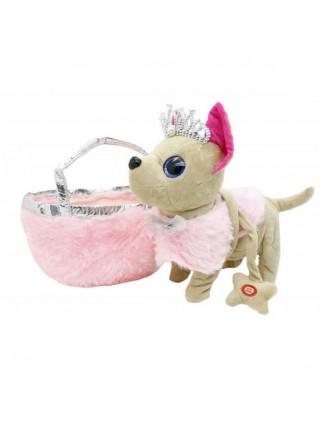 """Детская интерактивная игрушка """" Собачка в сумке"""" двигается и лает (BL-124)"""