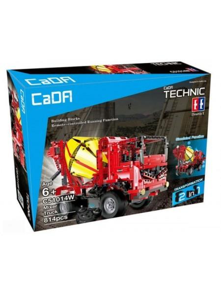 """Детский игровой набор конструктор """" Бетономешалка"""" на радиоуправлении 814 деталей CADA C51014W"""