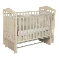 """Кровать детская деревянная с универсальным маятником + накладки-грызунки """" Erica 2"""" цвет: слоновая кость"""