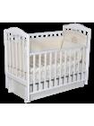 """Кровать детская деревянная с универсальным маятником + ящик + накладки-грызунки """" Erica 3"""" цвет: белый"""