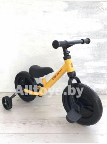 Детский Велосипед-беговел (3 в 1) цвет: желтый TF-01