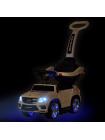 """Детская каталка-толкачик-качалка с ручкой """" Машина Mercedes GL63 AMG \ Мерседес """" со звуком, светом и MP3 3 в 1 цвет: белый"""