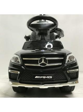 """Детская каталка-толкачик с ручкой """" Машина Mercedes GL63 AMG \ Мерседес """" со звуком и светом 2 в 1 цвет: черный (A888AA-M)"""