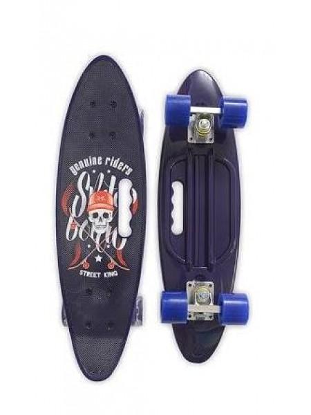 Скейтборд MicMax для детей и подростков ( роликовая доска ) цвет: черный  (JP-HB-314)