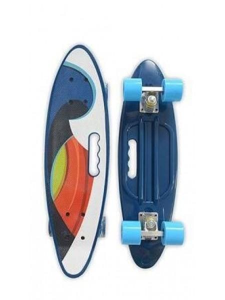 Скейтборд MicMax для детей и подростков ( роликовая доска ) цвет: мультиколор (JP-HB-314)