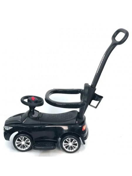 Детская каталка-толкачик с поворотной родительской ручкой Audi цвет: черный (JY-Z06A)