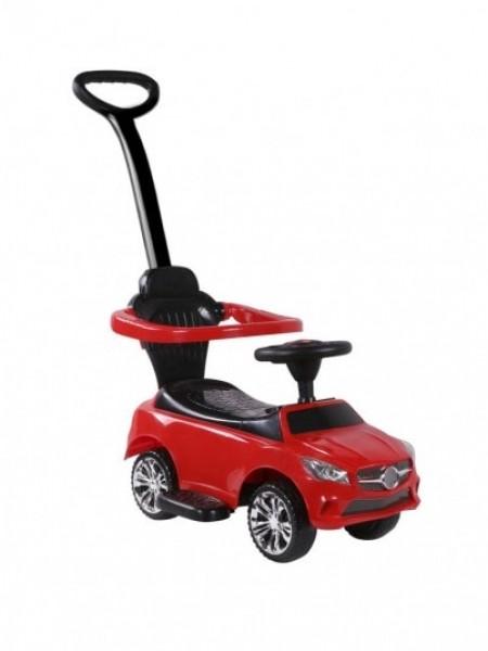 Детская каталка-толкачик с поворотной родительской ручкой  Mercedes цвет: красный (JY-Z06C)
