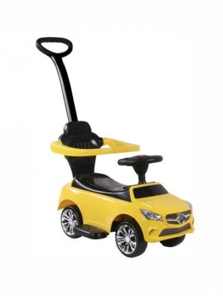 Детская каталка-толкачик с поворотной родительской ручкой  Mercedes цвет: желтый (JY-Z06C)