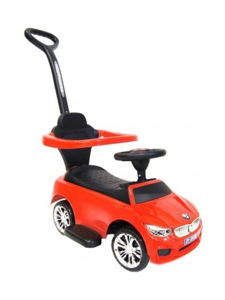 Детская каталка-толкачик с поворотной родительской ручкой BMW цвет: красный  (JY-Z06B)