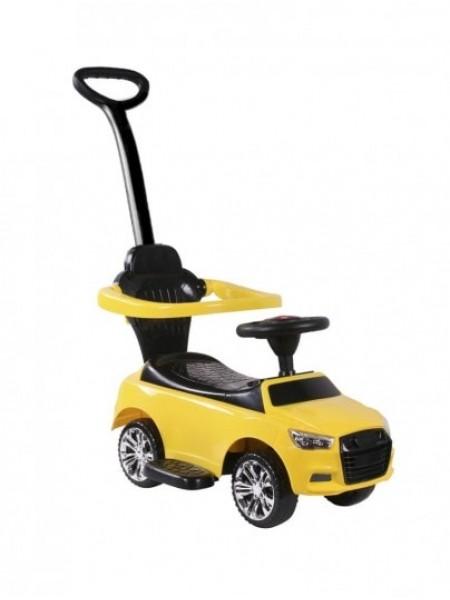 Детская каталка-толкачик с поворотной родительской ручкой Audi цвет: желтый (JY-Z06A)