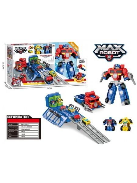 """Детский игровой набор """" Трансформер-робот MAX ROBOT с мини трансформерами"""" (L015-71)"""