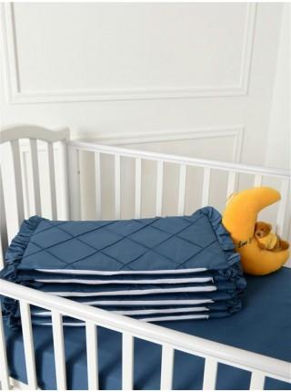 """Бортики в детскую кроватку """" Patrino"""" со съемными чехлами цвет: индиго"""