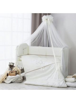 """Балдахин для детской кроватки """" Le Petit Bebe """" 180х450 см Perina цвет: кофейный ПБ1/1-01.5"""