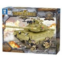 """Детский игровой набор конструктор """"Военный Танк """" 1162 детали (QL0131)"""