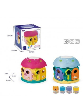 """Детская развивающая игрушка - сортер """" fantastic mushroom house""""музыка+свет (QX-91171E)"""