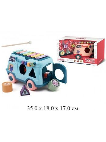 """Детская развивающая игрушка - сортер """"Автобус Ксилофон """" цвет: в ассортименте (RT980)"""