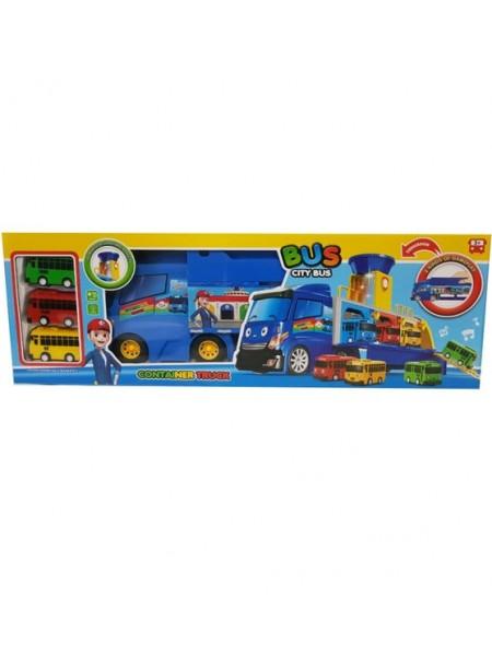 """Детский игровой набор """"Автовоз BUS с автобусиками """" (TAY-39)"""