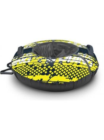 Детский тюбинг-ватрушка Nika Sport диаметр 95 цвет: лимонный